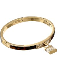Michael Kors Collection Padlock Hinge Bangle - Lyst