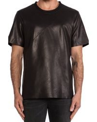 Blk Dnm Leather Tshirt 12 - Lyst