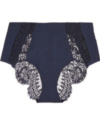 La Perla Pizzo Lace and Stretch-satin Briefs - Lyst