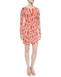 Diane von Furstenberg Ikat-Print Silk Dress - Lyst