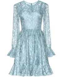 Dolce & Gabbana Ruffled Lace Dress - Lyst