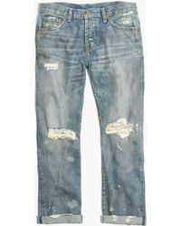 Madewell Nsfreg Beck Destructed Jeans - Lyst