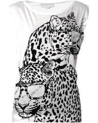 Stella McCartney Leopard Print Tank Top - Lyst