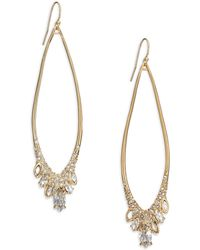 Alexis Bittar Miss Havisham Liquid Pavé Crystal Wire Teardrop Earrings gold - Lyst