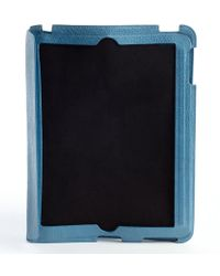 Balenciaga Blue Leather Buckle Detail Ipad Case - Lyst
