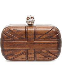 Alexander McQueen Britannia Wooden Skull Box Clutch - Lyst