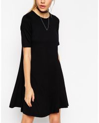Asos Swing Dress With Short Sleeves - Lyst