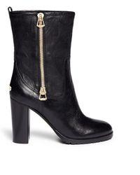 Jimmy Choo 'Dawson' Zip Leather Boots - Lyst