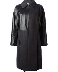 Nina Ricci Panelled Over Sized Coat - Lyst