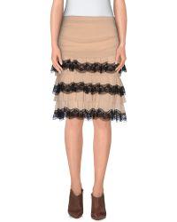Pf Paola Frani Knee Length Skirt beige - Lyst