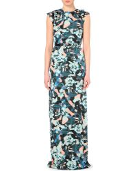 Erdem Rylie Floral-Print Silk Gown - Lyst