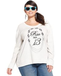 Jessica Simpson Plus Size French Graphic Sweatshirt - Lyst
