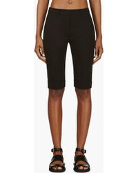Gareth Pugh Black Wool Crepe Tailored Shorts - Lyst