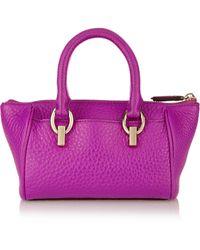 Diane Von Furstenberg Sutra Mini Duffel Textured-leather Shoulder Bag - Lyst