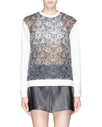 Nicopanda - Embroidered See Through Panels Sweatshirt - Lyst