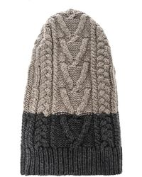 Marc Jacobs - Bi-Colour Cable-Knit Wool Beanie - Lyst