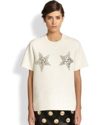 Marc Jacobs Star Embellished Sweatshirt Top - Lyst
