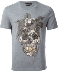 Alexander McQueen Feather Skull T-shirt - Lyst