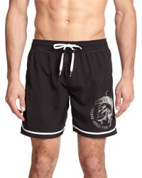 Diesel Mark E Swim Trunks black - Lyst