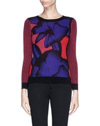 Diane von Furstenberg 'April' Poppy Leopard Print Wool Sweater - Lyst