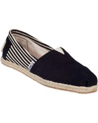 TOMS University Classic Slip-On Black Fabric - Lyst