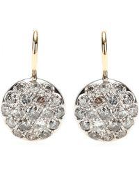 Roberto Marroni - Rhodium-plated 18kt White Gold Diamond-encrusted Earrings - Lyst