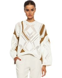 3.1 Phillip Lim Geometric Pattern Sweater - Lyst