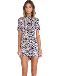 Neuw Black Bones Dress - Lyst