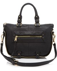 She + Lo - Rise Above Perforated Leather Mini Satchel - Lyst