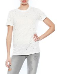 Iro Clay Destroyed Short Sleeve Tee - Lyst