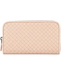 Bottega Veneta Woven Leather Continental Wallet - Lyst
