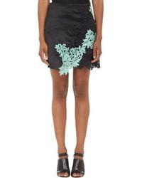 3.1 Phillip Lim Lace Embellished Satin Mini Skirt - Lyst