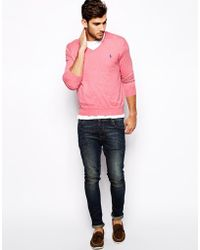 Polo Ralph Lauren Sweater with V Neck in Slim Fit - Lyst