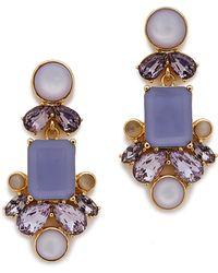 Kate Spade Glitzy Spritz Statement Earrings - Lilac Multi - Lyst