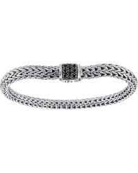 John Hardy Classic Chain 65mm Small Braided Silver Bracelet - Lyst