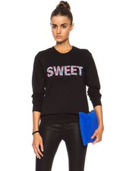 Markus Lupfer Sweet Beaded Cotton Sweatshirt - Lyst