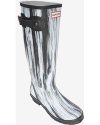 Hunter Original Rubber Rainboots: Black/White - Lyst