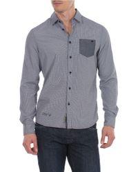 William Rast Yarn Dye Plaid Sport Shirt - Lyst