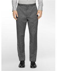 Calvin Klein White Label Straight Fit Textured Jaspe Suit Pants - Lyst