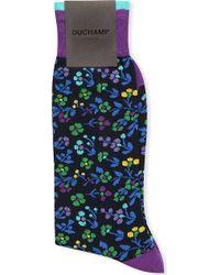 Duchamp Floral Pattern Socks - For Men - Lyst