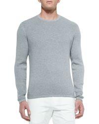 Theory Waffle-Knit Crewneck Sweater - Lyst