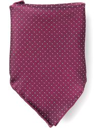 Mr Start Burgundy Dot Pocket Square - Lyst
