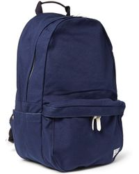 Porter Yoshida & Co Beat Leather-trimmed Canvas Backpack - Lyst