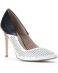 French Connection Black & White Maya Pumps - Lyst