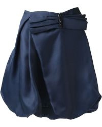Armani Bow Detail Voluminous Skirt - Lyst