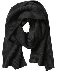 Banana Republic Ribbed Cashmere Scarf - Charcoal Gray Heather - Lyst