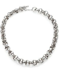 John Hardy Sterling Silver Bamboo Link Toggle Necklace - Lyst