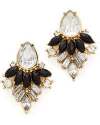 Adia Kibur Black Crystal Earrings - Lyst