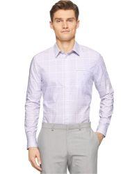 Calvin Klein Twill Check Shirt - Lyst