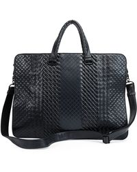 Bottega Veneta Intrecciato Leather Computer Case - Lyst